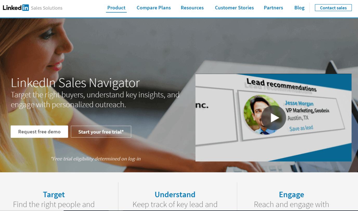 Linkedin Sales Navigator Screenshot