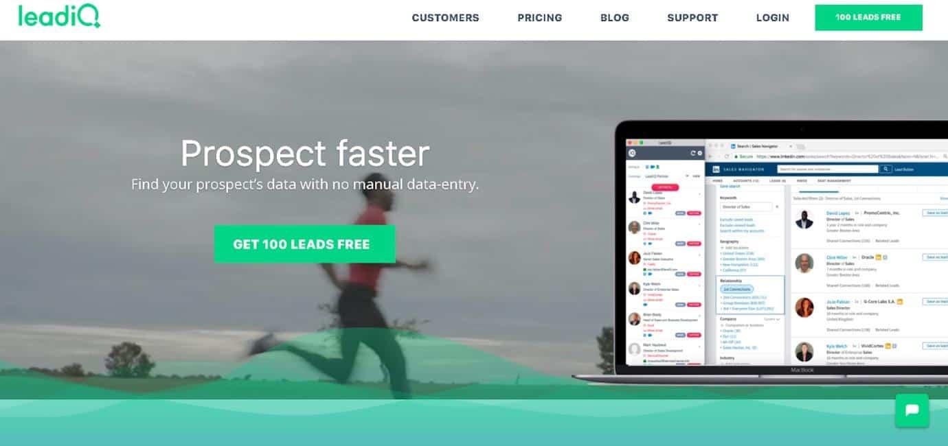 LeadIQ Screenshot