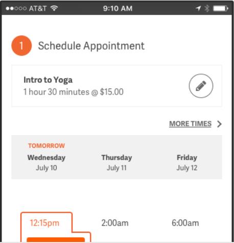 ACuity Scheduling SCreenshot