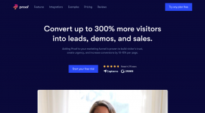 Proof is a lead generation software that allows you to convert leads through social proof.
