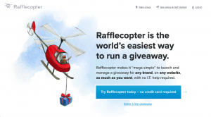 Runcopter is a great lead gen tool that generates leads through giveaways