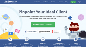 AdEspresso tracks your website visitors and can generate leads through paid ad management
