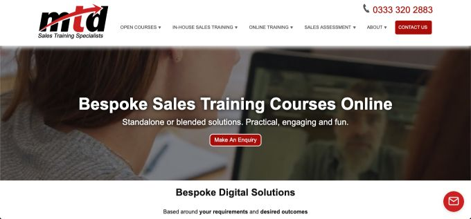 MTD Sales Training: Bespoke Online Courses