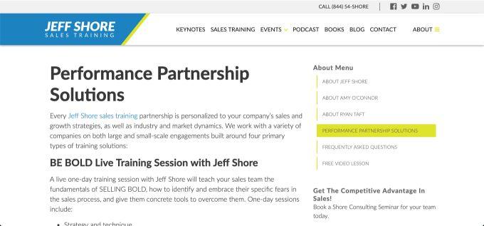 Jeff Shore: BE BOLD Live Training