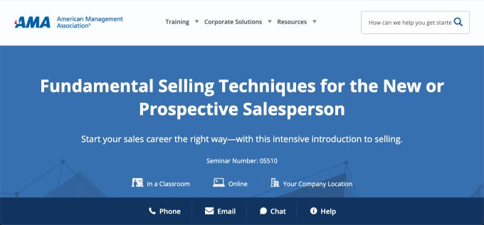 American Management Association: Fundamental Selling Techniques