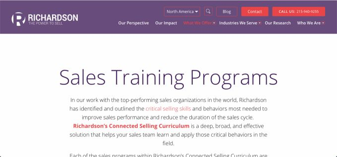 Richardson: Sales Training Programs