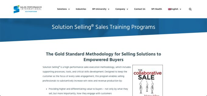 Sales Performance International: Solution Selling