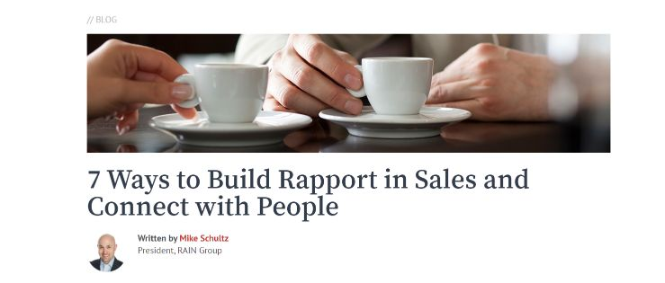 Build Rapport in Sales