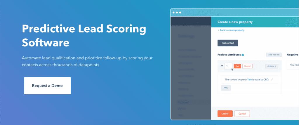 Hubspot for lead scoring