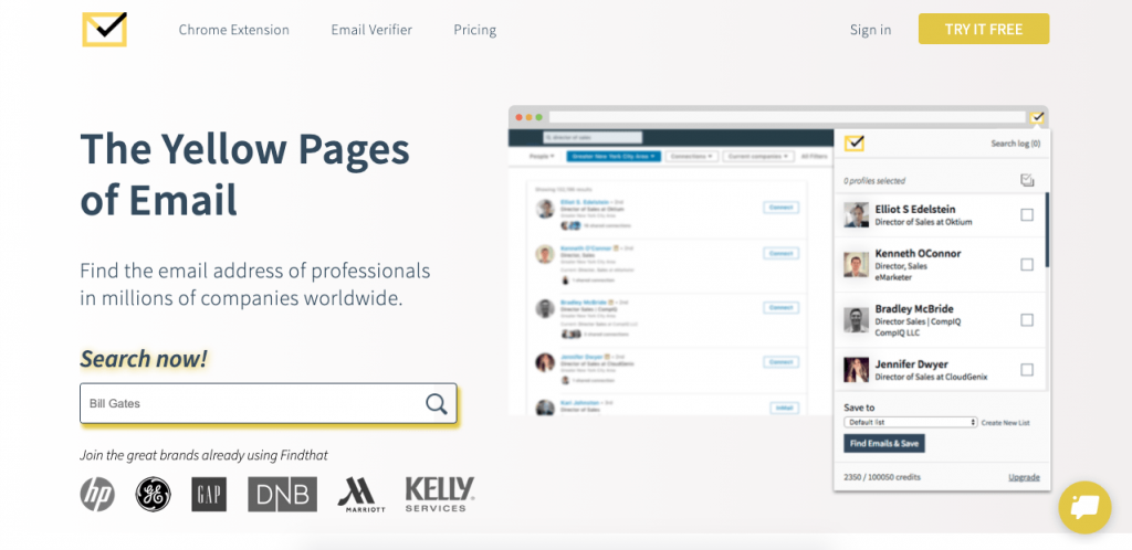 Find That Email can help you create the best lists filled with potential customers.
