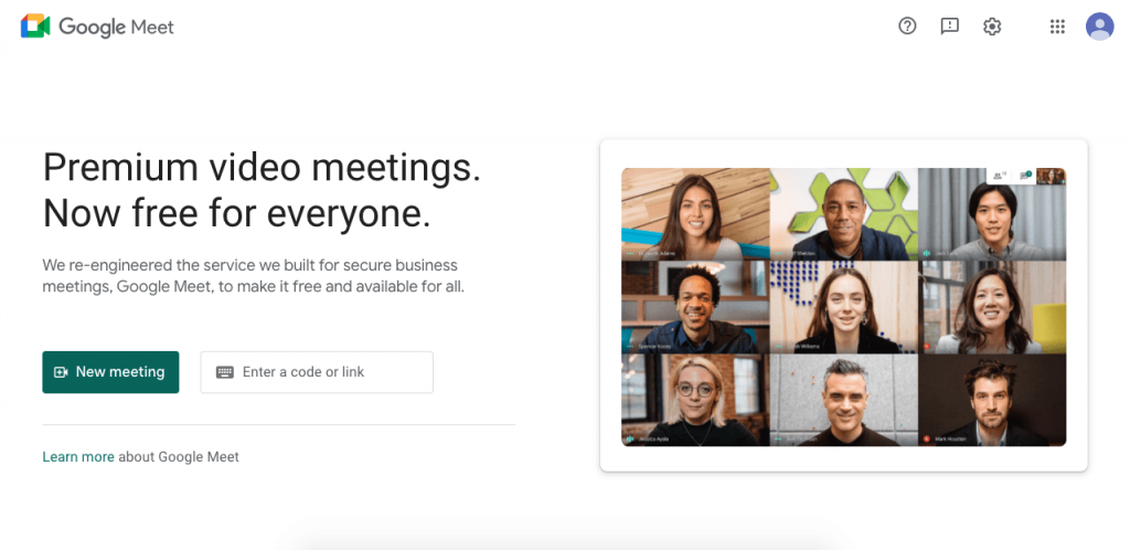 Google Meet works flawlessly on all devices, improving the experience of the standard Google Hangouts by fully focusing on business needs