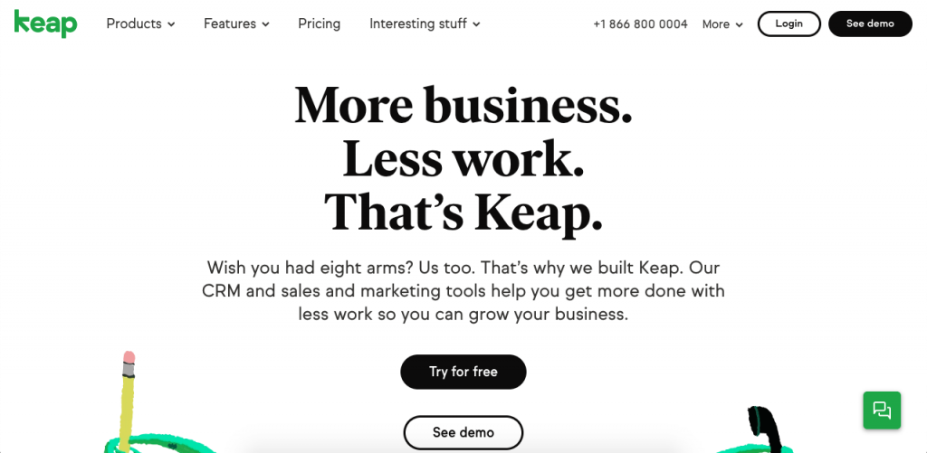 Keap has one of the best mobile CRM apps for anyone working in e-commerce and marketing