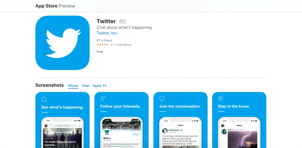 Twitter allows you to communicate to your users through short messages known as tweets, keeping them up to date with your strategies and business efforts