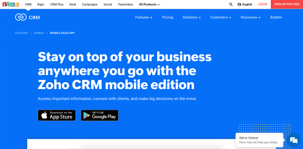 Zoho has an incredibly popular CRM, with automations, powerful integrations and great lead management capabilities to increase sales