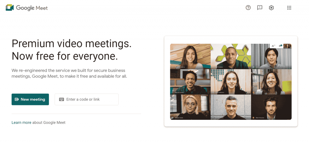 Google Meet is a video communication app that allows businesses to host video meetings and conference calls.