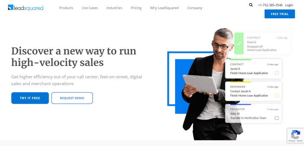 LeadSquared is a marketing automation CRM platform that helps thousands of businesses convert leads into sales.
