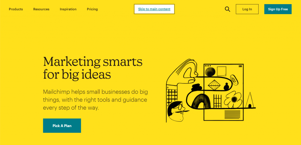 Mailchimp is an email marketing platform that allows businesses of all sizes to build, grow, and engage an email list.