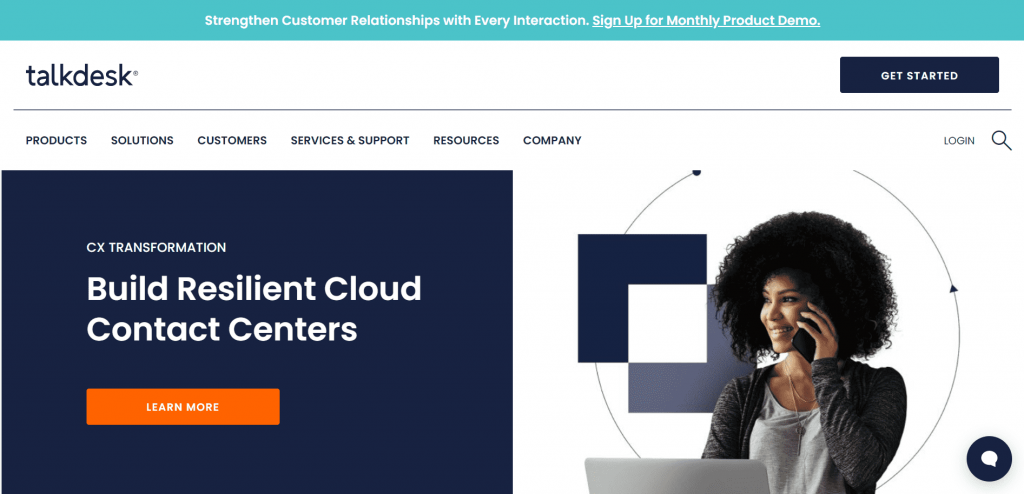 Talkdesk is a cloud-based call center app that helps improve customer satisfaction while keeping expenses low.