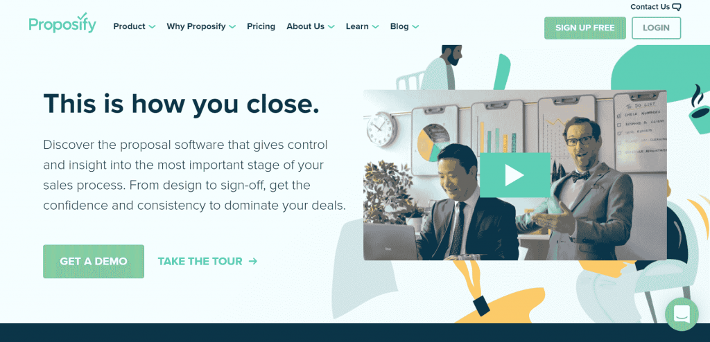 Proposify is an online proposal software that creates and sends converting contracts, agreements, and proposals.