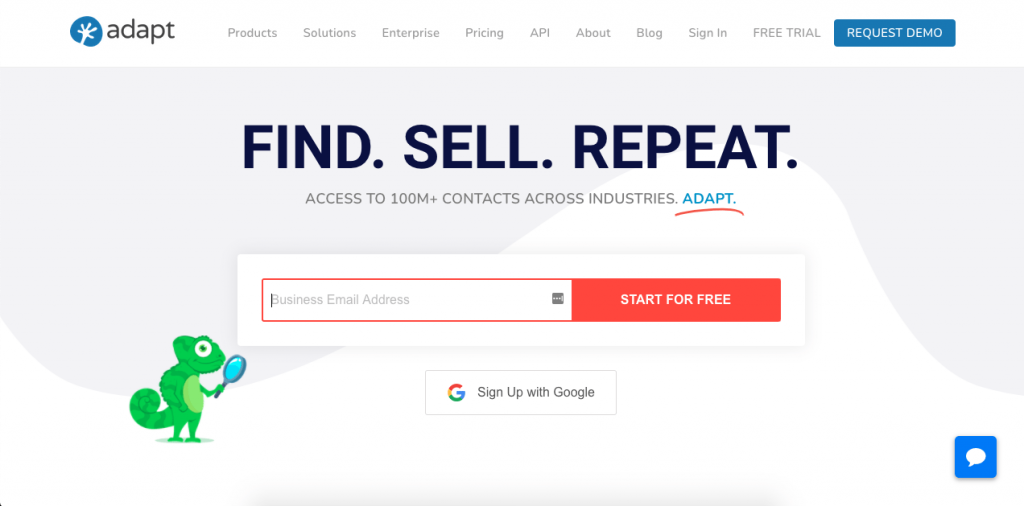 Adapt is another email lookup tool in the form of a Chrome extension. The platform is designed for prospecting, lead building, and lead engagement.