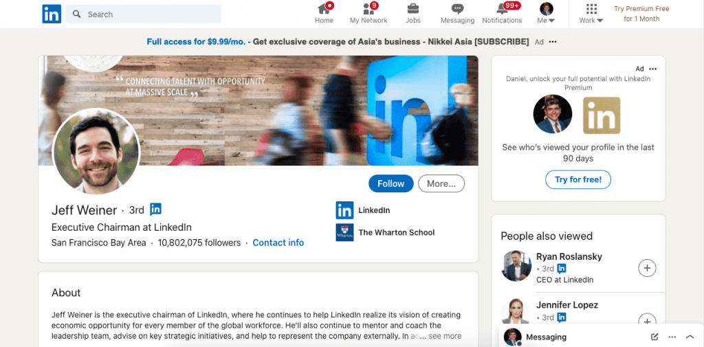 LinkedIn is a great place to find all kinds of professional information including email addresses.