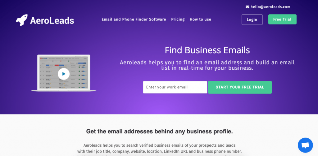AeroLeads is a Google Chrome plugin that works as a great lookup tool to find all contact information on your leads, not just their email addresses.