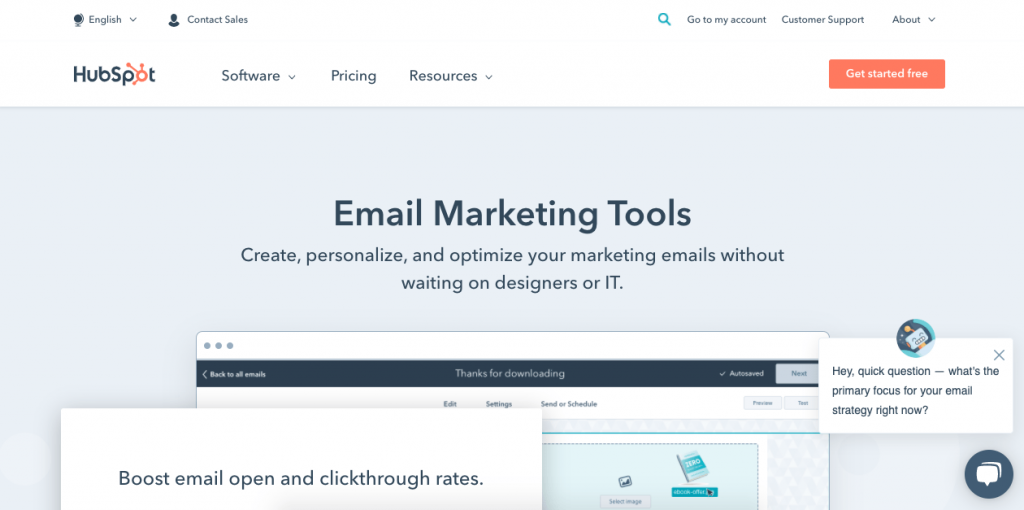 HubSpot has recently launched a free email marketing tool that's just as good as the rest of their suite.