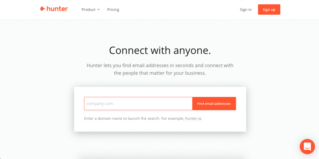 Hunter.io is a great option to find email addresses based on the parent company.