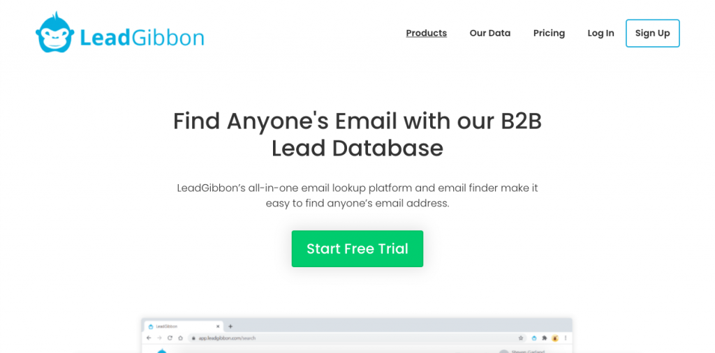 LeadGibbon is a list broker created to help businesses create email lists for their marketing efforts.