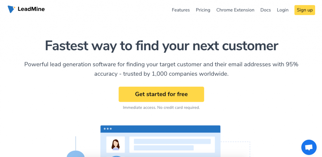 LeadMine is a fast and reliable lead generation tool.