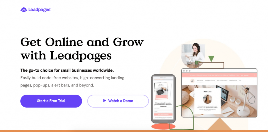 Leadpages is a tool that empowers small businesses to create effective landing pages with a high conversion rate.