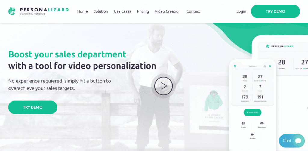 Personalizard is a data-driven option for marketing and sales teams that require a hands-on approach to video development.