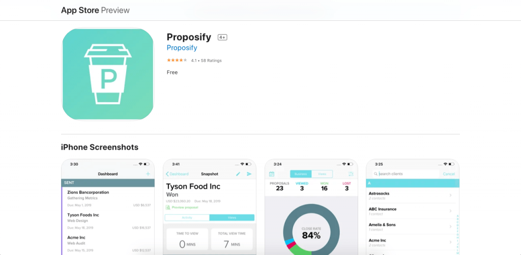 Proposify, as its name implies, is fully focused on proposal development.