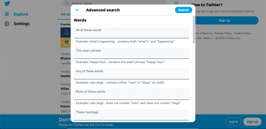 Although not exactly an email lookup too, Twitter's advanced search is great for finding email addresses that have been tweeted.