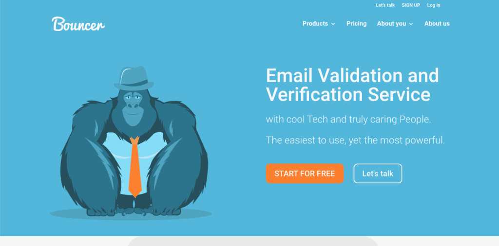 Bouncer is an email verification tool with a quirky look. It is great for both single and bulk verifications.