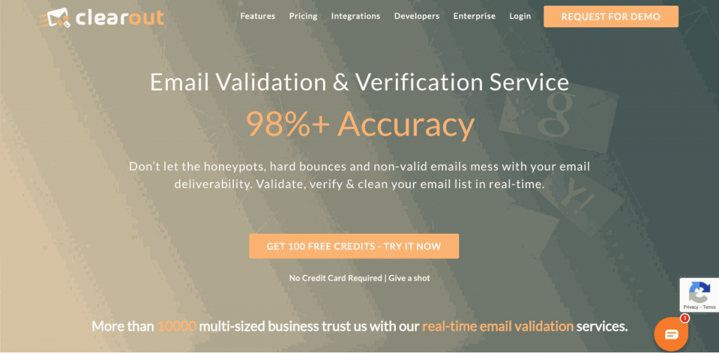 Clearout goes through all steps needed for full email verification in its platform, which can handle up to one million emails at a time for bulk verification.