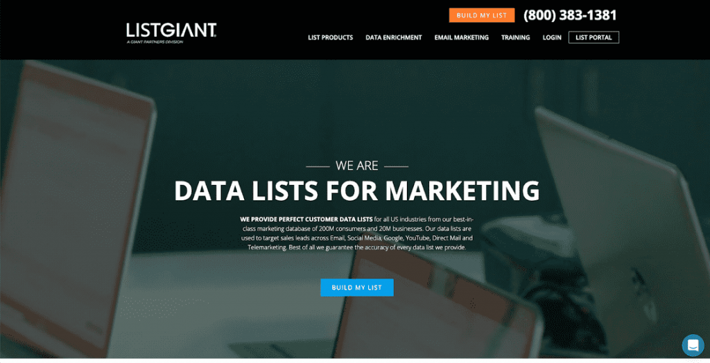 ListGIANT is a list broker that's affordable while still being reliable.