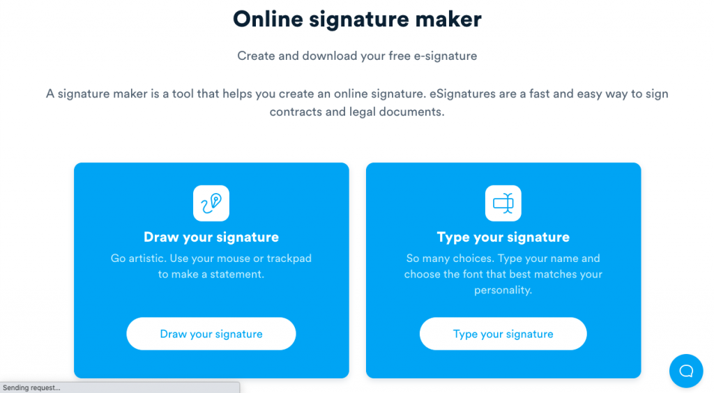 Signaturely, an eSigning platform, has a useful Online Signature Maker for everyone to use for free, no registration required.