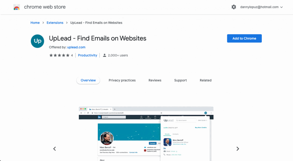 With UpLead's Chrome extension, you can easily extract emails and other data straight from your browser