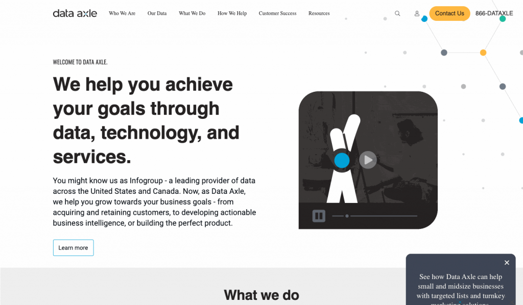 Data Axle is a leading provider of business and consumer data