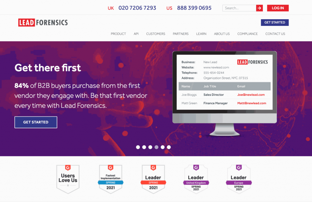 Lead Forensics allows users to turn website visitors into leads one step at a time.