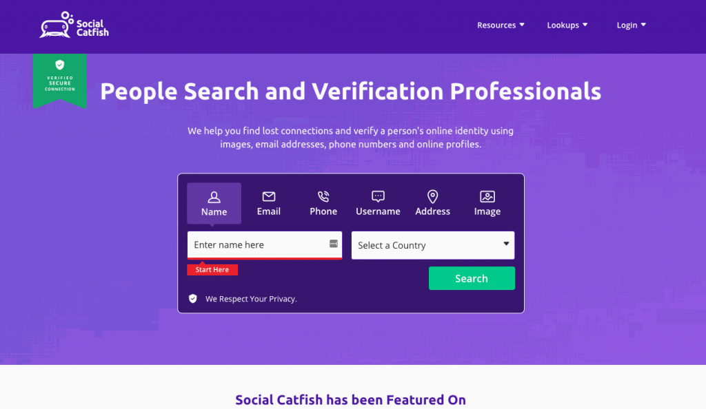 Social Catfish helps you find people and verify information like images, email addresses, phone numbers and online profiles.