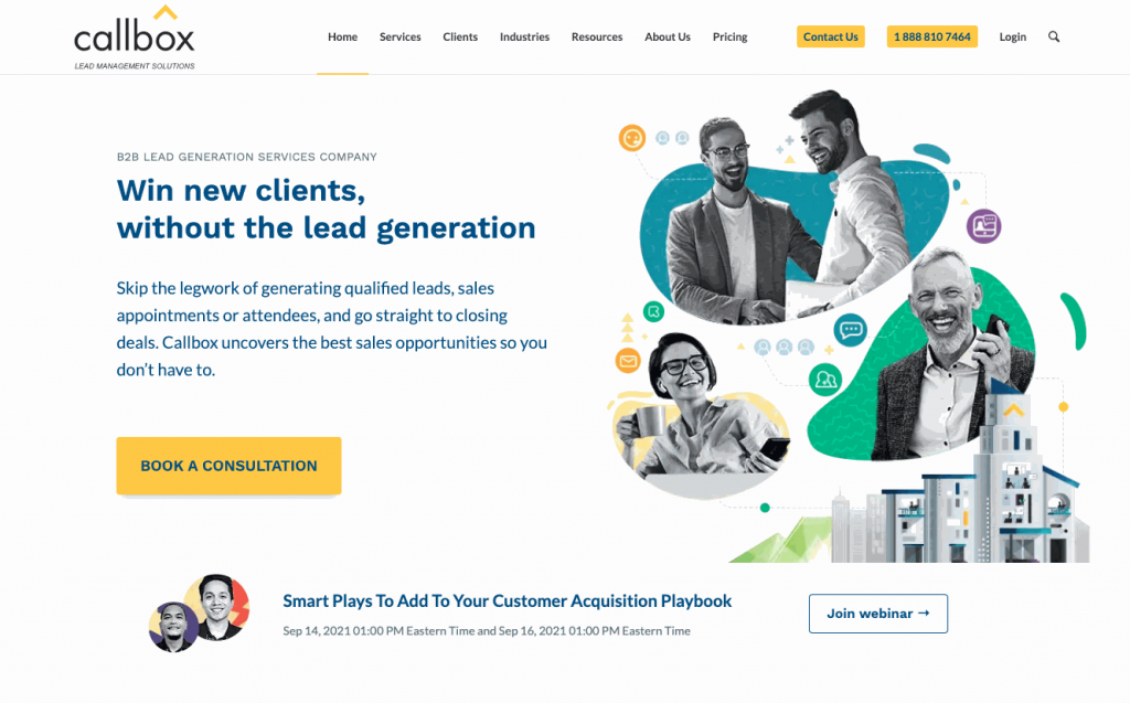 Callbox is the largest B2B lead generation and sales support services company