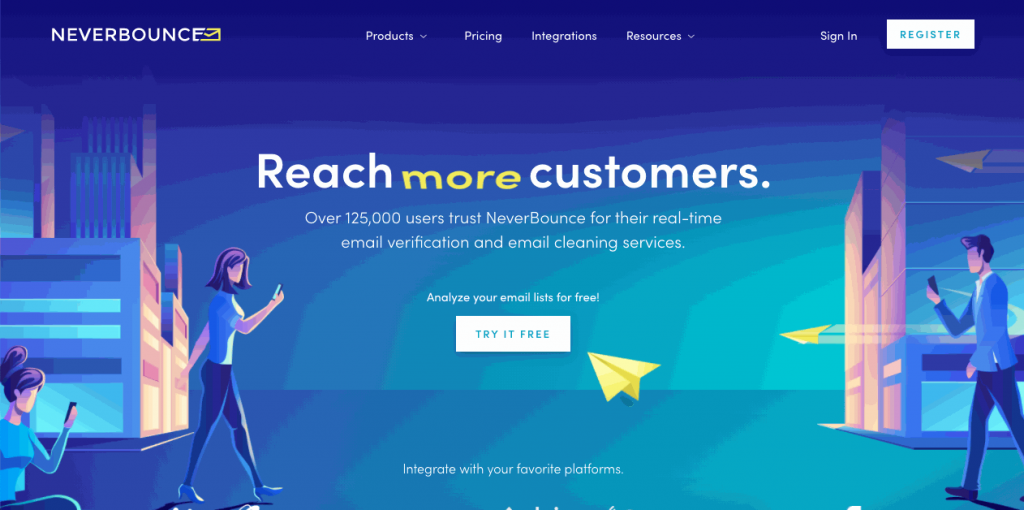 NeverBounce ensures companies reach their customers by dramatically increasing the delivery of their emails to the inbox
